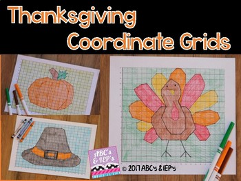 Thanksgiving Coordinate Grids - One Quadrant