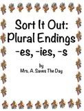 Thanksgiving Plural Endings Sort