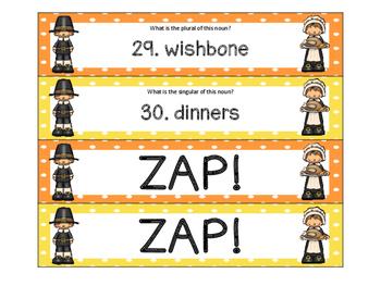 Thanksgiving Plural Nouns ZAP!