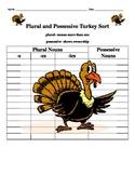 Thanksgiving Plural and Possessive Noun Word Sort