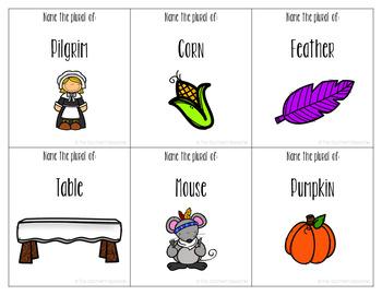 Thanksgiving Plurals