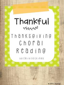 Thanksgiving Poem Choral Reading