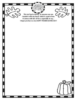 Thanksgiving Poem Freebie