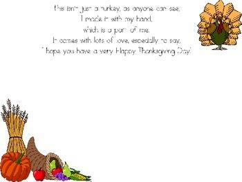 Thanksgiving Poem Placemat