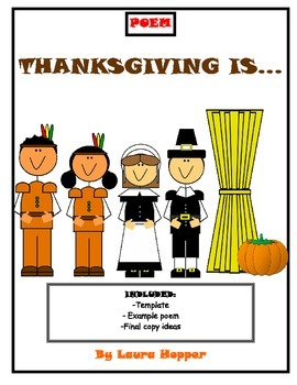 Thanksgiving Poem- Template, Example, Publishing Ideas