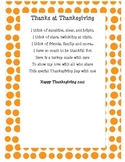 Thanksgiving Poem Turkey Handprint Craftivity
