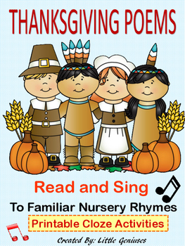 Thanksgiving Poems to Familiar Nursery Rhymes ~ Fun Literacy Activities