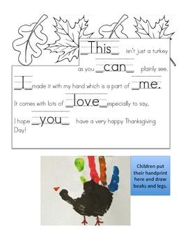 Thanksgiving Poem with Handprint
