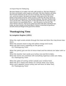 Thanksgiving Poems - Poets as Mentors