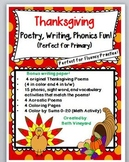 Thanksgiving Poems, Writing, Phonics and Coloring Math Resource