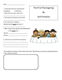 Thanksgiving Poems by Jack Prelutsky Comprehension Questions