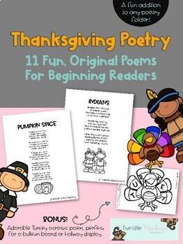 Thanksgiving Poems for Beginning Readers