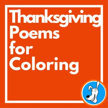 Thanksgiving Poems for Coloring