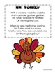 Thanksgiving Poems for Shared Reading or Journals
