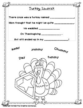 Thanksgiving Poetry Fun