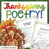 Thanksgiving Poetry Fun