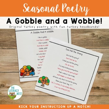 November Centers Fluency Practice Thanksgiving Themed Poetry