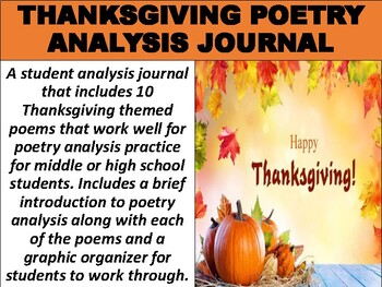 https://www.teacherspayteachers.com/Product/Thanksgiving-Poetry-Analysis-Journal-4870730