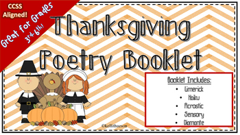 Thanksgiving Activity Poetry