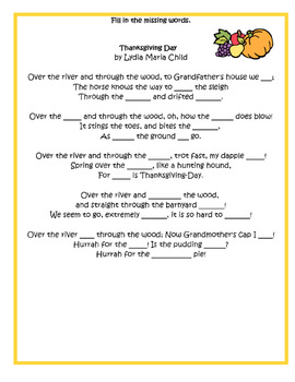 Thanksgiving Poetry Packet