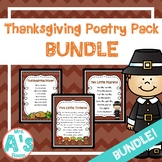 Thanksgiving Poetry Packs **BUNDLE**
