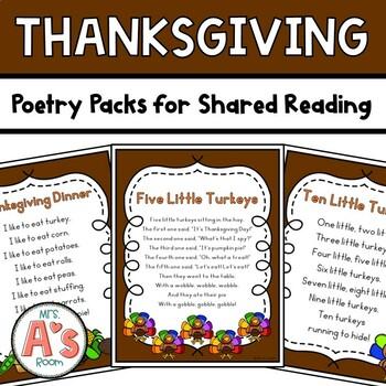 Thanksgiving Poetry Packs **BUNDLE**