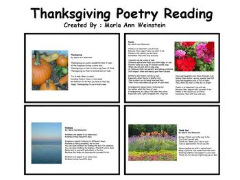 Thanksgiving Poetry Reading