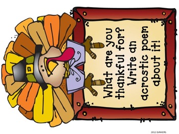 Thanksgiving Poetry Station Ideas
