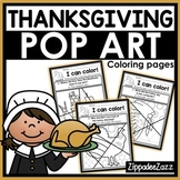 Thanksgiving Pop Art Coloring Pages