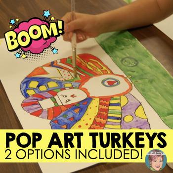 Thanksgiving Activity: Pop Art Turkeys - A great Thanksgiv