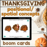 Thanksgiving Positional / Spatial Basic Concepts | Boom Cards™