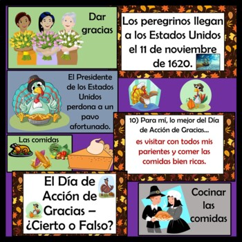 Thanksgiving Power Point (Dia de Accion de Gracias) in Spanish