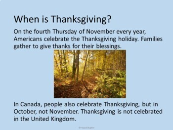 Thanksgiving - Thanksgiving History PowerPoint