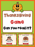 Thanksgiving PowerPoint Game, can you read it?