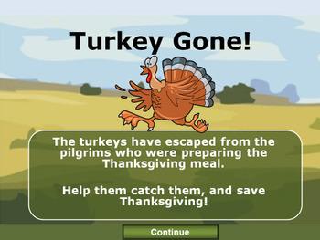 Thanksgiving PowerPoint Game - Turkey Gone