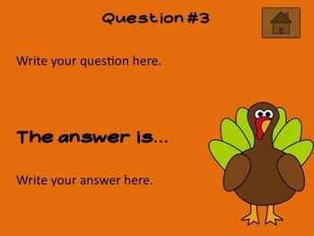 Thanksgiving Theme Editable Powerpoint
