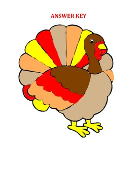Thanksgiving Pre-Algebra coloring page
