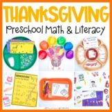 Thanksgiving Preschool Math & Literacy Centers  Homeschool Mini Eraser Printable