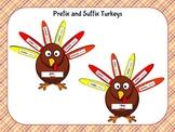 Thanksgiving Prefix and Suffix Turkeys