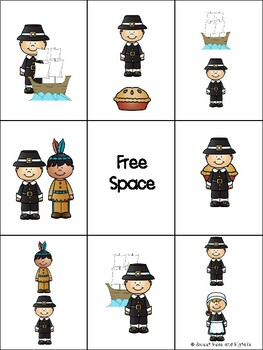 Thanksgiving Preposition Bingo