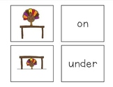 Thanksgiving Preposition & Concept Matching Game