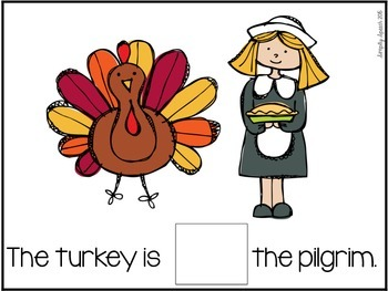 Thanksgiving Preposition Interactive Placemats FREE!