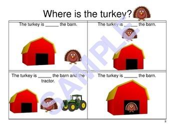 Thanksgiving Prepositions Activity