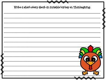 Thanksgiving Prepositions, Pilgrims, and Pie! (A Creative Writing Activity)