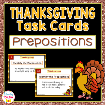 Thanksgiving Prepositions Task Cards