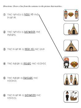 Thanksgiving Prepositions/Basic Concepts