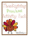 Thanksgiving Preschool Activity Pack