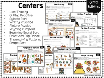 Thanksgiving Circle Time Unit By Play To Learn Preschool Tpt