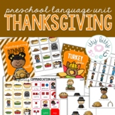 Thanksgiving Preschool Language Unit