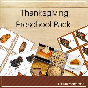 Thanksgiving Preschool Pack